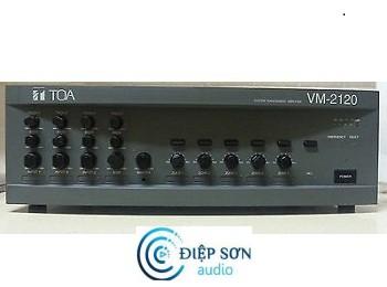 Mixer Amply 120W chọn 5 vùng loa TOA VM-2120