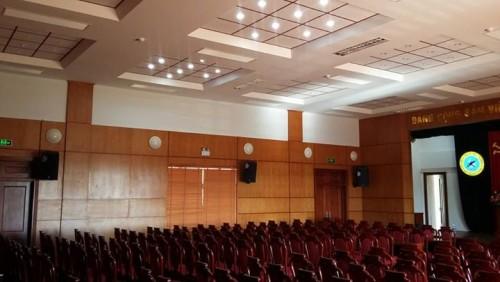 Lắp đặt âm thanh hội trường tại UBNN Triệu Sơn