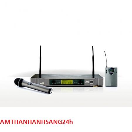 Bộ thu phát không dây cài micro không dây ve áo JTS US-902D/PT-850B+CM-501