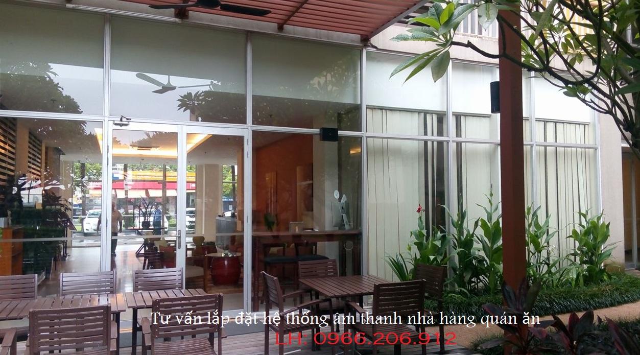 Lắp đặt hệ thống âm thanh cho nhà hàng quán ăn